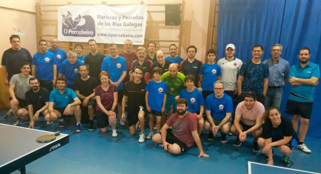 Players table tennis club in Madrid Fuencarral - El Pardo TM