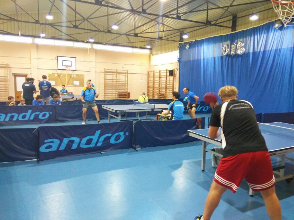 Imagen de primera jornada de liga de tenis de mesa de Madrid