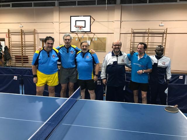 jornada VIII de liga de tenis de mesa de madrid imagen antes del partido